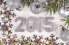 het jaar zilveren cijfers van 2015 Royalty-vrije Stock Foto's