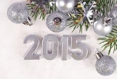 het jaar zilveren cijfers van 2015 Stock Foto