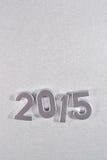 het jaar zilveren cijfers van 2015 Stock Foto's