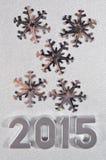 het jaar zilveren cijfers van 2015 Royalty-vrije Stock Fotografie