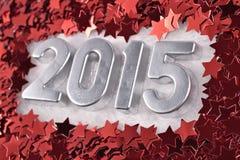 het jaar zilveren cijfers van 2015 Stock Fotografie