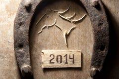 het jaarconcept van 2014 Stock Foto's