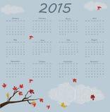 het jaarkalender van 2015 Royalty-vrije Stock Foto