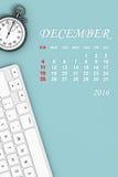het jaarkalender van 2016 December-Kalender het 3d teruggeven Royalty-vrije Stock Fotografie