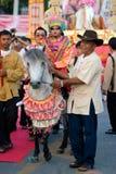 Het jaarlijkse Festival van de Paraplu in MAI Chiang Royalty-vrije Stock Afbeelding