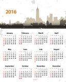 het jaarny van 2016 grunge cityscape Stock Foto