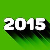 het jaarteken van 2015 met lange schaduw Stock Fotografie