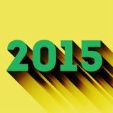 het jaarteken van 2015 met lange schaduw Royalty-vrije Stock Afbeelding
