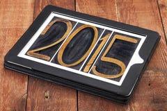 het jaartypografie van 2015 Royalty-vrije Stock Afbeelding
