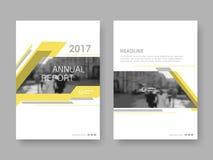 Het jaarverslag van het dekkingsontwerp Stock Afbeelding