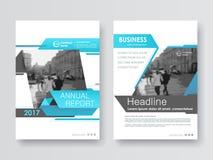 Het jaarverslag van het dekkingsontwerp, vectormalplaatjebrochures Royalty-vrije Stock Fotografie