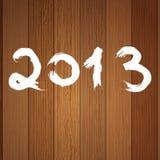 het jaarwit van 2013 op hout. + EPS8 Royalty-vrije Stock Afbeelding