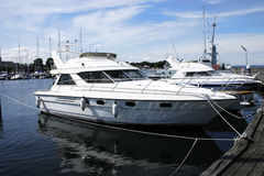 Het jachtboot van de motor Stock Foto's