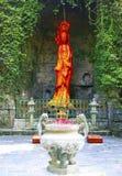 Het jadestandbeeld van avalokiteshvara vrouwelijke Boedha Stock Foto's