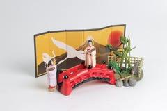 Het Japanse beeldje met witte achtergrond royalty-vrije stock foto