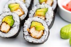 Het Japanse Broodje van Voedselsushi Stock Afbeeldingen