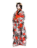 Het Japanse cosplay Kabuki meisje van Azië Stock Foto