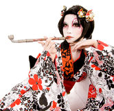 Het Japanse cosplay Kabuki meisje van Azië Royalty-vrije Stock Foto's