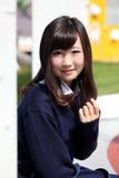 Het Japanse cosplay meisje van het animekarakter Stock Foto's