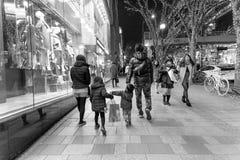 Het Japanse familie winkelen Stock Foto's