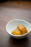 Het Japanse huis koken, Gesudderde pompoen Royalty-vrije Stock Afbeelding