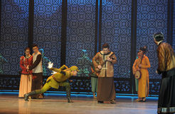Het Japanse Leger de nieuwsgierigheid-derde handeling van DA Zuo van de gebeurtenissen van dans drama-Shawan van het verleden Stock Afbeeldingen