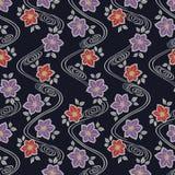 Het Japanse Patroon van de Bloemstroom royalty-vrije illustratie