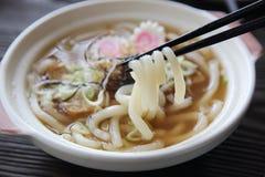 Het Japanse voedsel udon ramen noedel stock foto