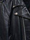 Het jasje detail2 van het leer Stock Foto