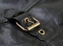 Het jasje van het leer met gesp Royalty-vrije Stock Foto