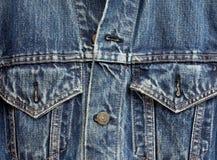 Het jasjedetail van het denim Royalty-vrije Stock Foto