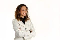 Het jonge aantrekkelijke dame stellen in de studio Royalty-vrije Stock Afbeeldingen