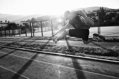Het jonge atleet lopen Stock Afbeeldingen