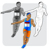 Het jonge atleet lopen Royalty-vrije Stock Foto