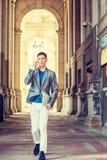 Het jonge Aziatische Amerikaanse Zakenman reizen, die in New York werken Royalty-vrije Stock Afbeelding
