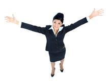 Het jonge bedrijfsvrouw lopen Royalty-vrije Stock Fotografie