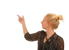 Het jonge bedrijfsvrouwen richten Stock Fotografie