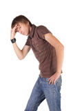 Het jonge breakdancer stellen. Stock Foto
