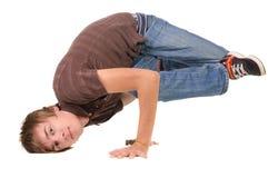 Het jonge breakdancer stellen. Royalty-vrije Stock Foto