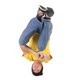 Het jonge breakdancer stellen. Stock Foto's