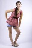 Het jonge dame model glimlachen Royalty-vrije Stock Afbeeldingen