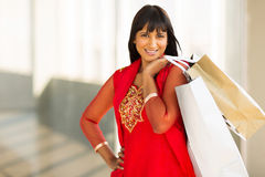 Het jonge dame winkelen Royalty-vrije Stock Foto's