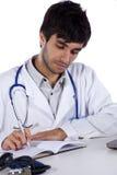 Het jonge de arts van Frendly werken Stock Afbeeldingen