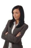 Het jonge en mooie bedrijfsvrouw denken Stock Foto's