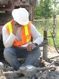 Het jonge Gebied Eng van de Hydrogeoloog Stock Foto