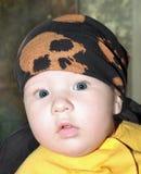 Het jonge geitje in bandana Royalty-vrije Stock Afbeelding