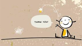 Het jonge geitje dankt u royalty-vrije illustratie
