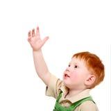 Het jonge geitje houdt hand stand stock fotografie
