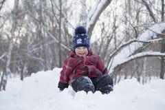 Het jonge geitje op de wintergang Royalty-vrije Stock Afbeelding
