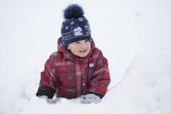 Het jonge geitje op de wintergang Royalty-vrije Stock Fotografie